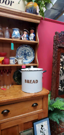 Huge vintage traditional enamelled bread bin Rustic Farmhouse