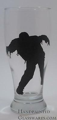Zombie Hand Painted Beer Glass (Zombie Glass)