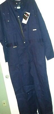 bulwark indura  flame resistant coveralls size 50 blue with tag - Indura Flame Resistant Coverall