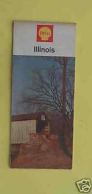 1966 Illinois road map Shell oil route 66 early interst