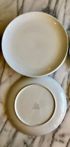 MIKASA SOPHISTICATE White Dinner Plates Replacement China (Used)