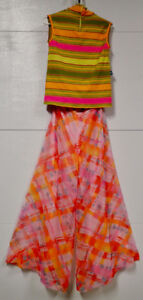 Real Vintage Groovy Clothing for 60s/70s Costume (Women, Size M)