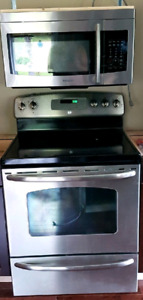 Stainless Steel stove and microwave
