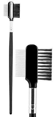 (Deluxe Steel Metal Lash Comb & Brush Duo Eyelash Extension)