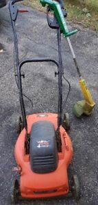 Lawnmower and weed wacker - electric