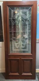 Front Door Hardwood. NEW Glazed. 813 x 2030mm