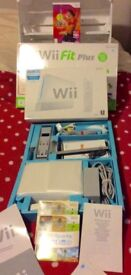 Boxed Nintendo Wii console/Wii sports & new Nintendo Wii fit plus balance board & Zumba fitness