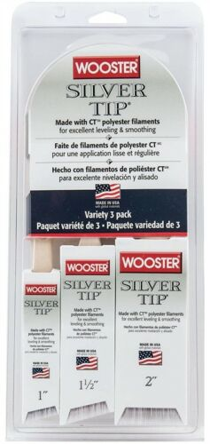 NEW Wooster Brush 5229 Silver Tip Variety (Pack 3) QUALITY PAINT BRUSHES 9533233