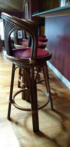 Beautiful Boca Rattan Bar Stools