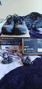 Size 10 Men's Cycling Shoes & Clipless Pedals