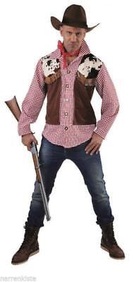Cowboy Wilder Westen Country Trapper Kostüm Mantel Weste Hemd Herren -