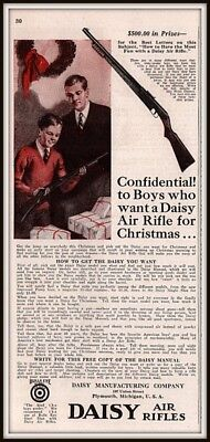 1930 AD DAISY AIR RIFLES SON DAD CHRISTMAS GIFT BEST LETTER