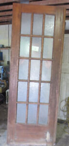 ANTIQUE OAK EXTRA TALL FRENCH DOORS architectural salvage