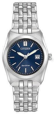 Citizen Eco-Drive Women's Corso Date Calendar Blue Dial 28mm Watch EW2290-54L