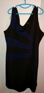 Brand New Plus Size Black and Blue Dress