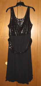 Fancy black Sequin Evening Dress - never used- size 18