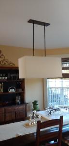 Modern  - Linen Rectangle Chandelier