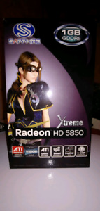Sapphire HD 5850 1GB PCIE video graphics card