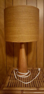 Rattan & wood table lamp**PRICE REDUCED