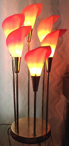 1980's Calla Lilly lamp