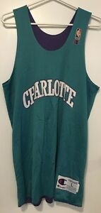 Vintage 1990s Champion Charlotte Hornets Practice Jersey