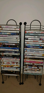 Lot of DVDs + stands