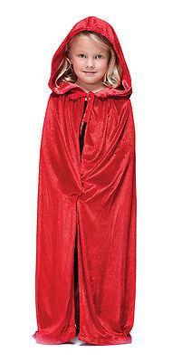 Mädchen Kinder Jungen Roten Kapuze Cape Mantel Halloween Vampir - Cape Samt Kind Kostüm