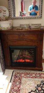Dimplex Burnished Walnut Matel Electric fireplace