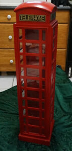 British Phone Booth CD/DVD/Curio/Chachka Cabinet