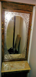 two piece vanity mirror and shelving unit Kitchener / Waterloo Kitchener Area image 2
