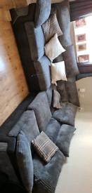 Black & Grey Corner Sofa