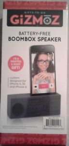 BATTERY FREE BOOMBOX SPEAKER...I HPONE 5 & 5S
