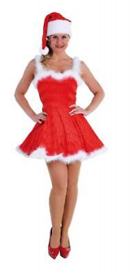 Nikolaus Santa Claus Lady Weihnachts Kostüm Kleid Nikolauskostüm Weihnachten Hut