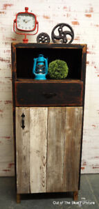 Beautiful storage cabinet W/barn wood door