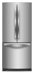 30'' Whirlpool refrigerator, French door, Stainless