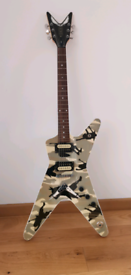 Dean Dime-o-Flage Camoflage Electric Guitar - Good Condtion