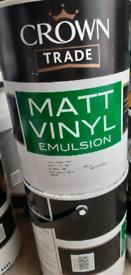 2x Crown Matt Vinyl Emulsion