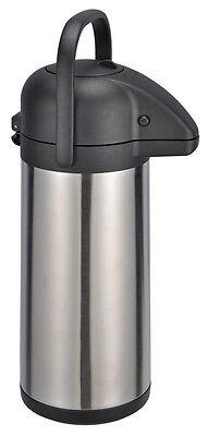 Edelstahl Thermokanne 3 L  Pumpkanne Isolierkanne Thermoskanne Airpot Iso-Kanne