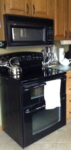 Self Clean Convection Stove and Microwave Hood Combination