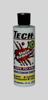 Tech No Scent STAIN REMOVER Liquid Multi Purpose Non-toxic Carpet Clothing 8 -