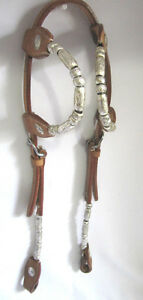 Western Bridle + Reins 2 Ear Silver Set Saddles + Tack For Sale London Ontario image 2