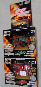 2 Diecast Gone in 60 Seconds 71 Dodge Challenger 69 Mustang