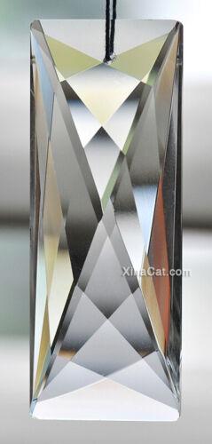 "76mm Modern Rectangle Austrian Crystal Clear Prism SunCatcher 3"""