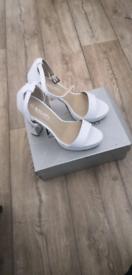 White Platform Shoes, Brand New, Boxed, UK Size 5