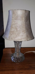 Cute vintage crystal bedroom table lamp