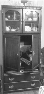 Lighted TV and China Cabinet Combined