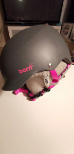 Snowboard /Ski /Bike Burn Helmet, grey and pink, for all season