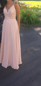 Pink formal gown