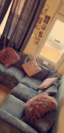 Grey corner sofa. Only 6 months old