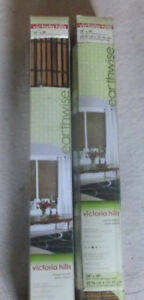 Bamboo wood roman shades/blinds 1 brn new in box 1 honey Unused